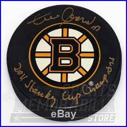 Zdeno Chara Boston Bruins Signed Autographed Stanley Cup Champs Inscribed Puck